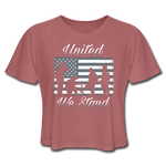 UNITED WE STAND CROP TOP - mauve