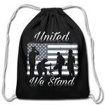 UNITED WE STAND DRAWSTRING BAG - black