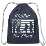 UNITED WE STAND DRAWSTRING BAG - navy