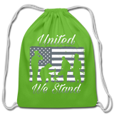 UNITED WE STAND DRAWSTRING BAG - clover