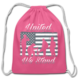 UNITED WE STAND DRAWSTRING BAG - pink