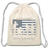 UNITED WE STAND DRAWSTRING BAG - natural