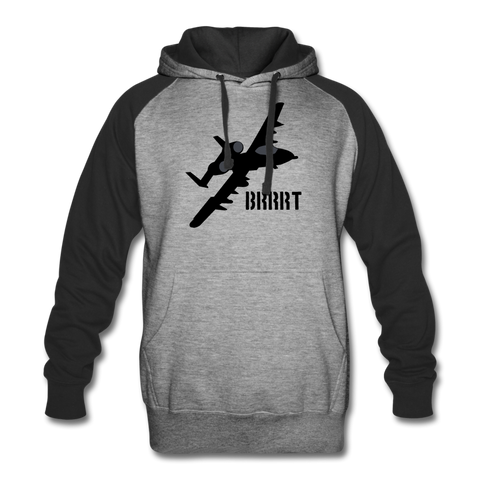 BRRRT COLORBLOCK HOODIE - heather gray/black