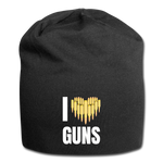 I LOVE GUNS BEANIE - black