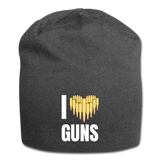 I LOVE GUNS BEANIE - charcoal gray