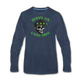 GOING DARK LONG SLEEVE - navy