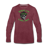 GOING DARK LONG SLEEVE - heather burgundy