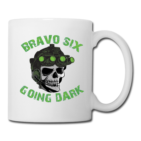 GOING DARK MUG - white
