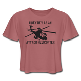 ATTACK HELICOPTER CROP TOP - mauve