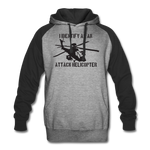 ATTACK HELICOPTER COLORBLOCK HOODIE - heather gray/black