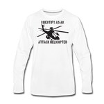 ATTACK HELICOPTER LONG SLEEVE - white
