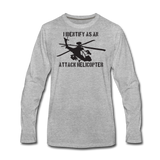 ATTACK HELICOPTER LONG SLEEVE - heather gray