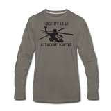 ATTACK HELICOPTER LONG SLEEVE - asphalt gray