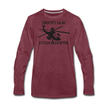 ATTACK HELICOPTER LONG SLEEVE - heather burgundy