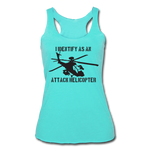 ATTACK HELICOPTER TANK - turquoise