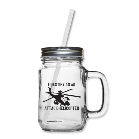 ATTACK HELICOPTER MASON JAR - clear