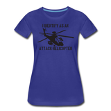 ATTACK HELICOPTER WOMENS - royal blue