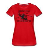 ATTACK HELICOPTER WOMENS - red
