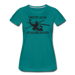 ATTACK HELICOPTER WOMENS - teal