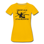 ATTACK HELICOPTER WOMENS - sun yellow