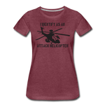 ATTACK HELICOPTER WOMENS - heather burgundy