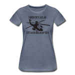 ATTACK HELICOPTER WOMENS - heather blue