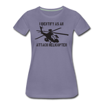 ATTACK HELICOPTER WOMENS - washed violet