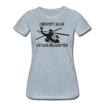 ATTACK HELICOPTER WOMENS - heather ice blue