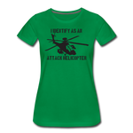 ATTACK HELICOPTER WOMENS - kelly green