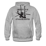 ATTACK HELICOPTER HOODIE - heather gray