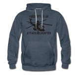 ATTACK HELICOPTER HOODIE - heather denim