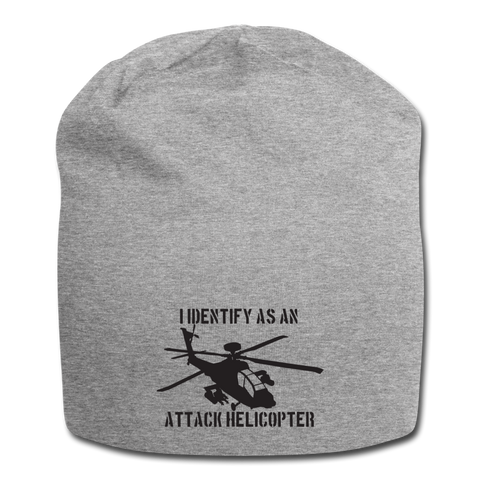 ATTACK HELICOPTER BEANIE - heather gray