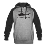 ATTACK COBRA COLORBLOCK HOODIE - heather gray/black