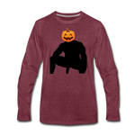 JACK-O-WOOD LONG SLEEVE - heather burgundy
