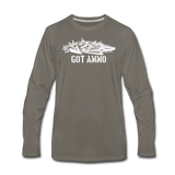 GOT AMMO LONG SLEEVE - asphalt gray