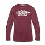 GOT AMMO LONG SLEEVE - heather burgundy