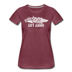 GOT AMMO WOMENS - heather burgundy