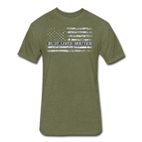 BLUE LIVES MATTER - heather military green