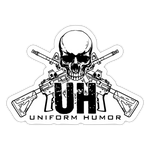 UH LOGO STICKER - white matte