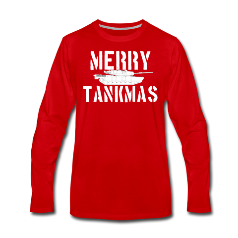 MERRY TANKMAS LONG SLEEVE - red