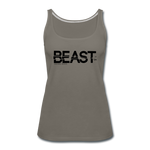 BEAST TANKTOP WOMANS - asphalt gray
