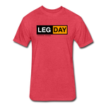 Fitted Cotton/Poly T-Shirt by Next Level - heather red