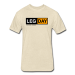 Fitted Cotton/Poly T-Shirt by Next Level - heather cream