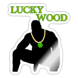 LUCKY WOOD STICKER - white glossy