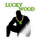 LUCKY WOOD STICKER - transparent glossy