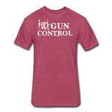 GUN CONTROL - heather burgundy
