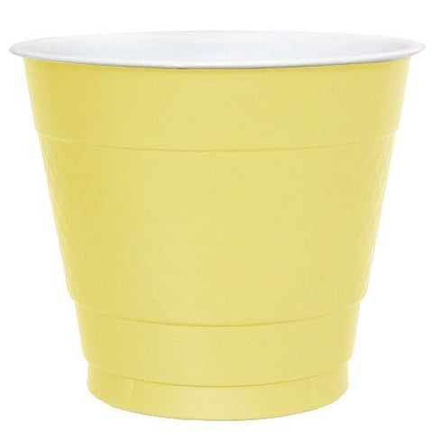 Hanna K. Signature Collection 50 Count Plastic Cup, 9-Ounce, Yellow