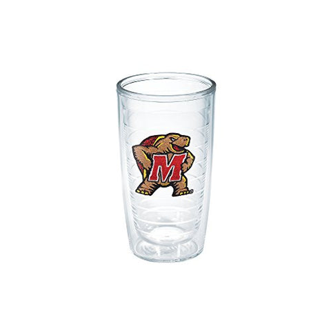Tervis 1079576 Maryland University Emblem Individual Tumbler, 16 Oz, Clear