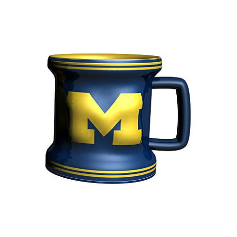 Ncaa Michigan Wolverines Sculpted Mini Mug, 2-Ounce