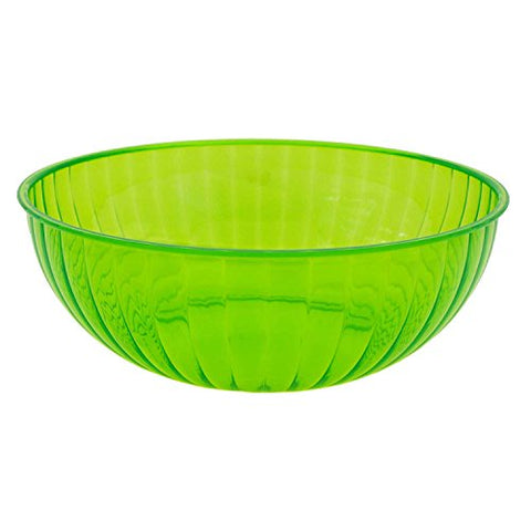 Party Essentials N823413 Hard Plastic 192-Ounce Serving Bowl, Neon Green